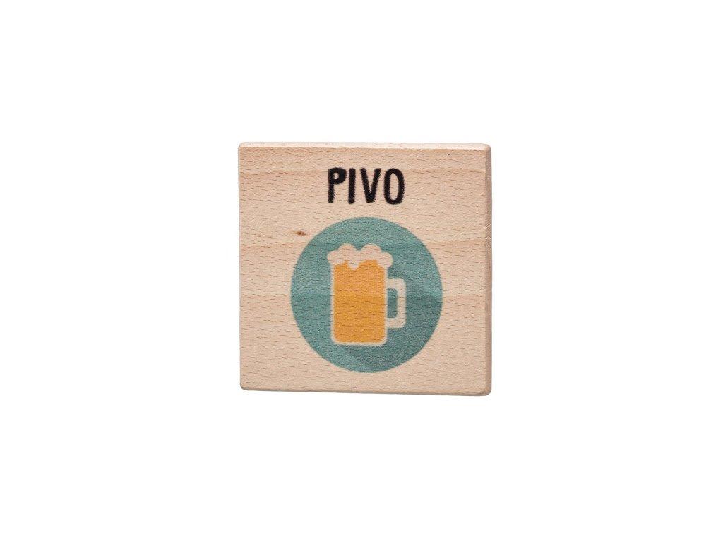 Dřevěný podtácek - Pivo
