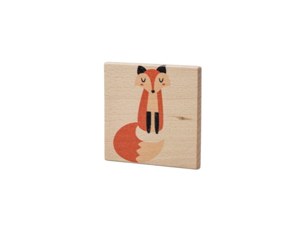 Dřevěný podtácek - Liška