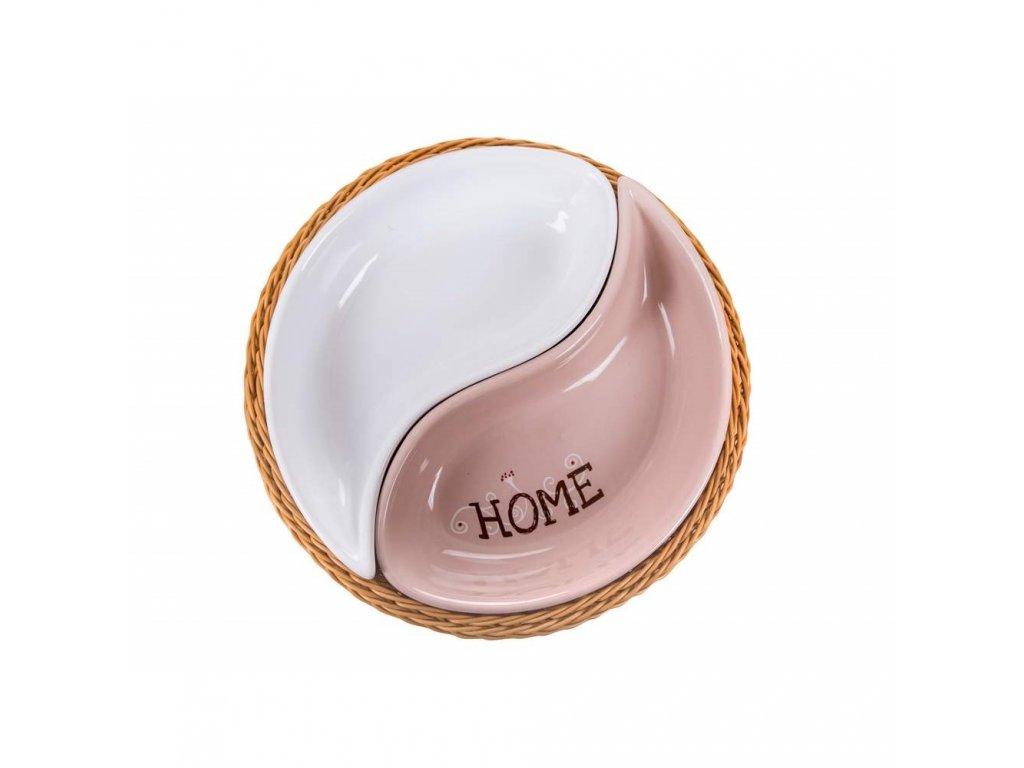 Misky v košíku HOME - 2 dílná sada
