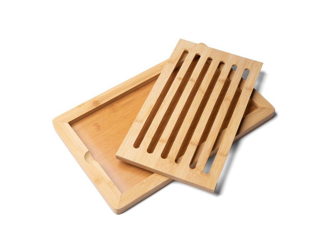 Prkénko na krájení pečiva bambusové 38 x 24 x 2 cm | www.Doleo.cz