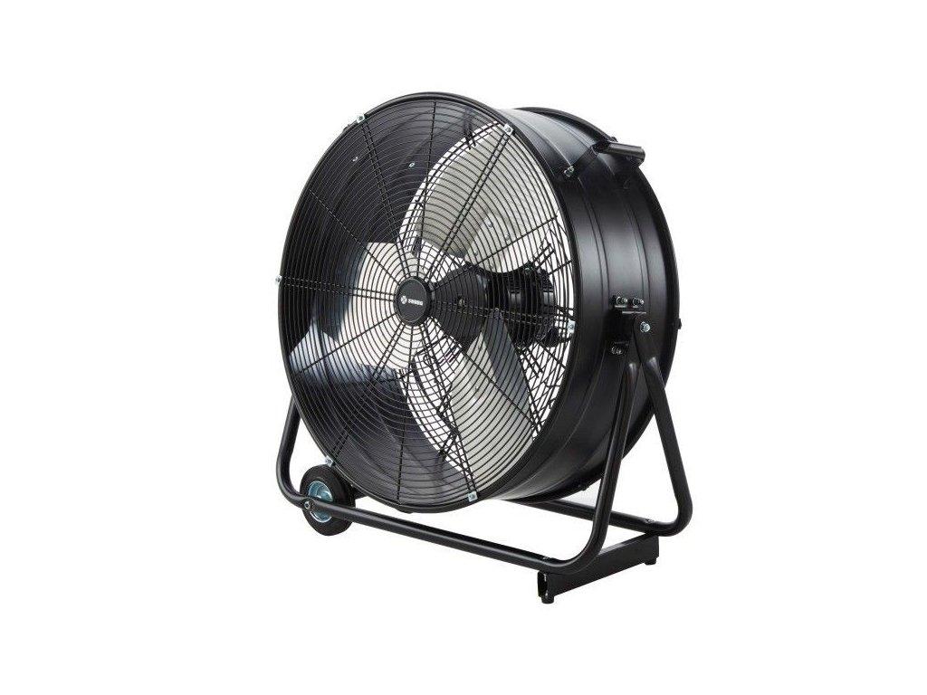 Průmyslový podlahový ventilátor 60 cm černý - Doleo
