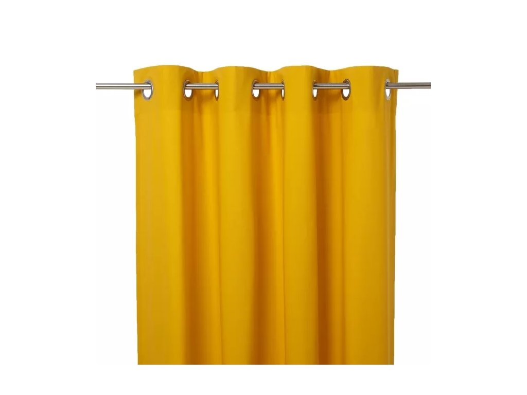 Závěs Hiva 140 cm x 260 cm - Žlutá | Doleo.cz