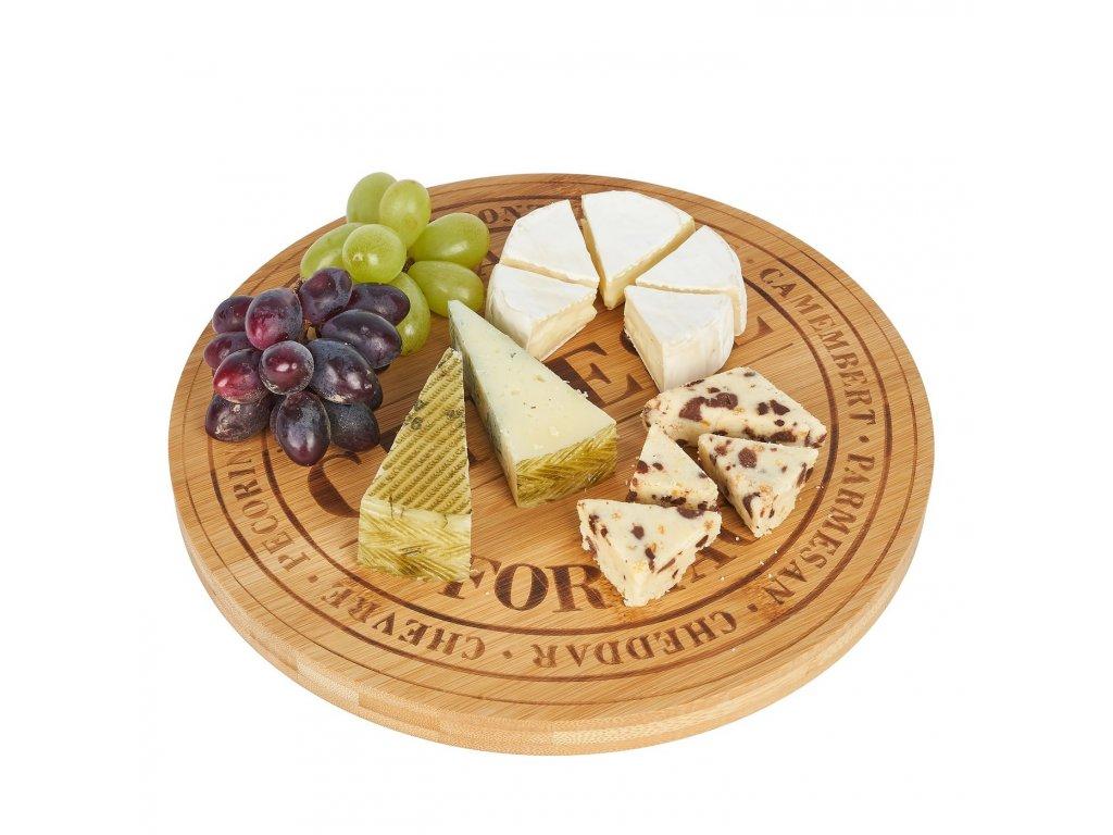 Bambusové prkénko na sýr - kulaté | www.doleo.cz