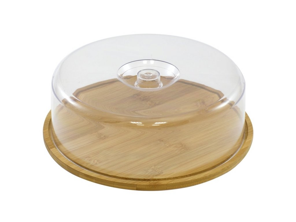 Bambusové prkénko s poklopem 28 cm kulaté | Doleo.cz