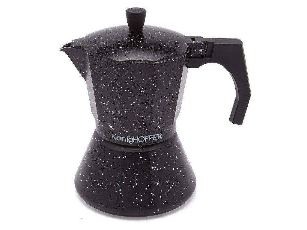 Moka konvice na espresso BLACK 300 ml - 6 šálků   www.doleo.cz