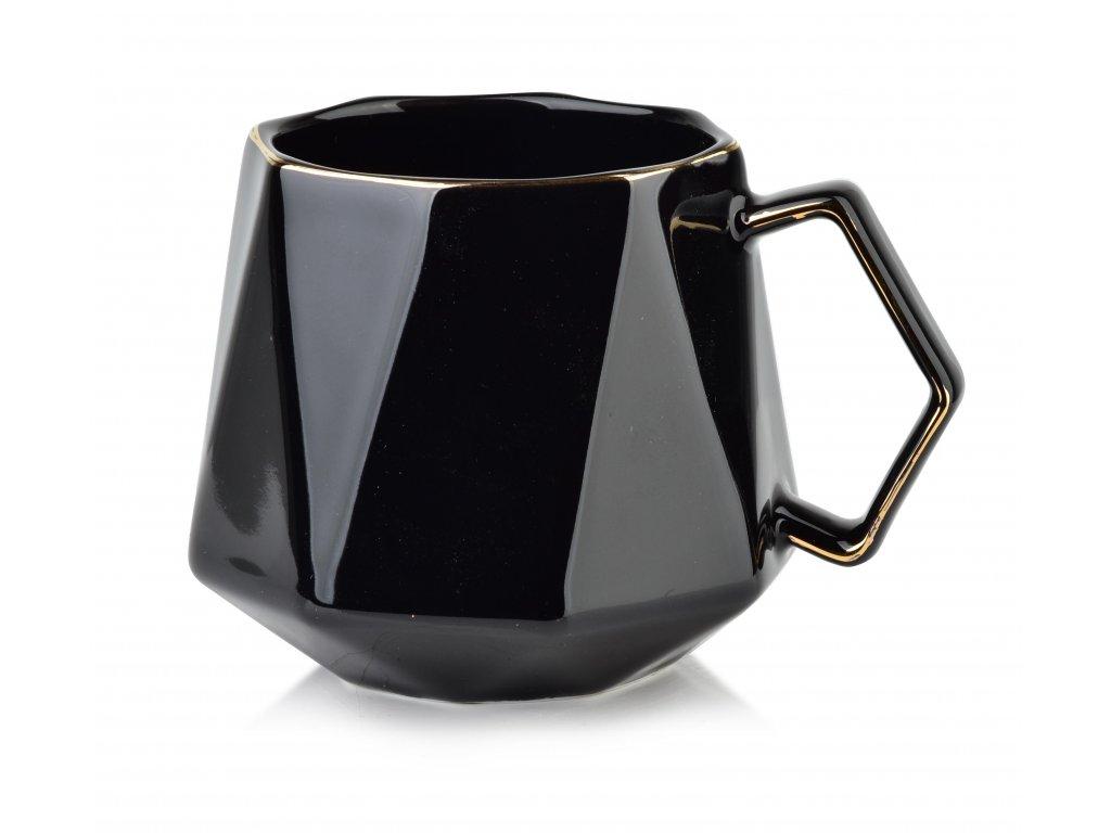 Porcelánový hrnek Ralph 380 ml - černý | www.doleo.cz