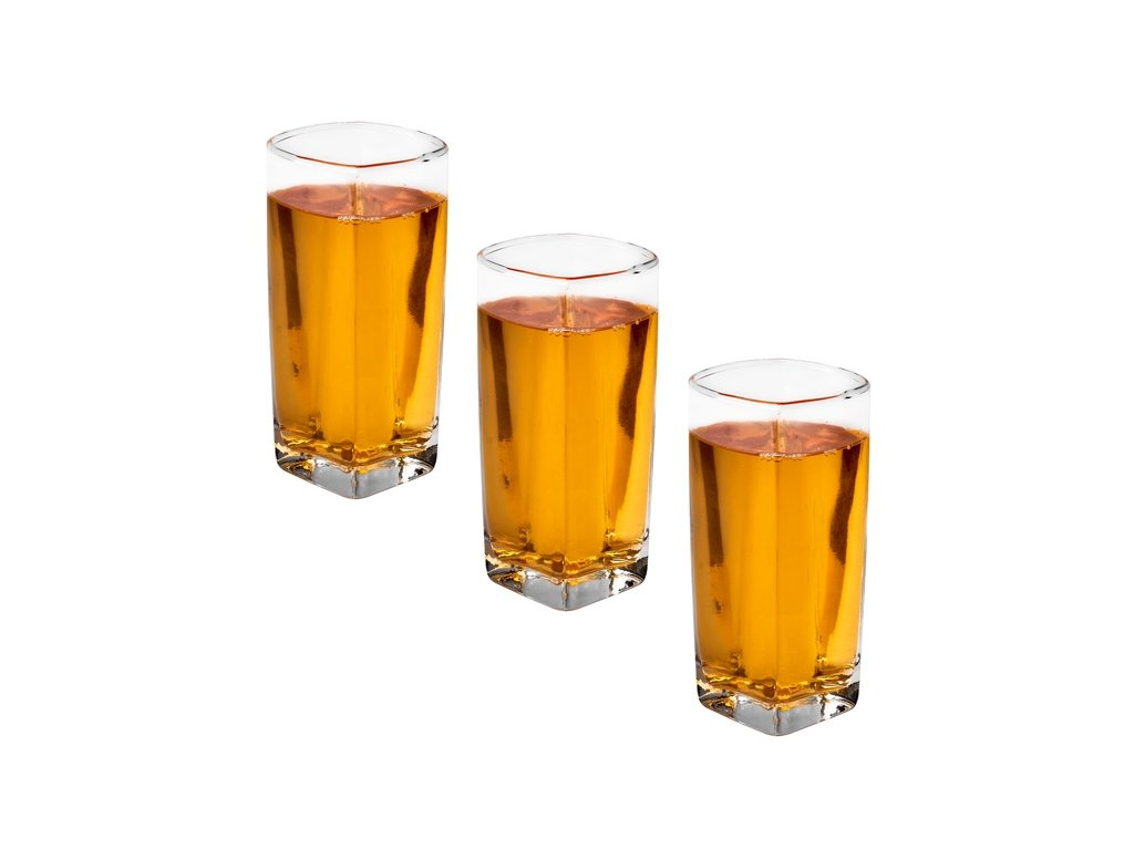 Čtvercová sklenice Long Drink 3 ks - 300 ml | www.doleo.cz