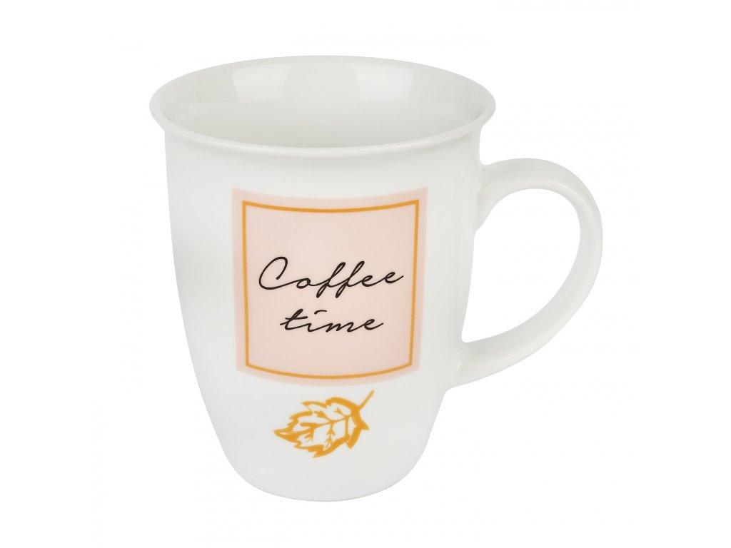 Porcelánový hrnek Coffee time 330 ml | www.doleo.cz