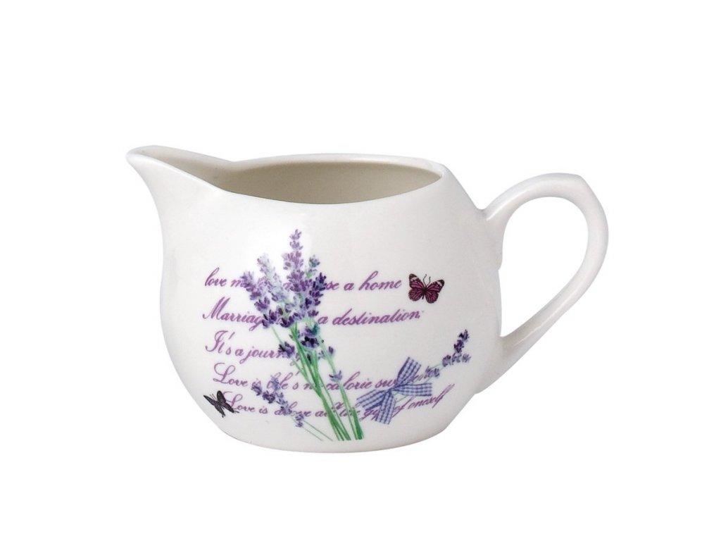 Porcelánová mlékovka Lavender 230 ml | www.doleo.cz