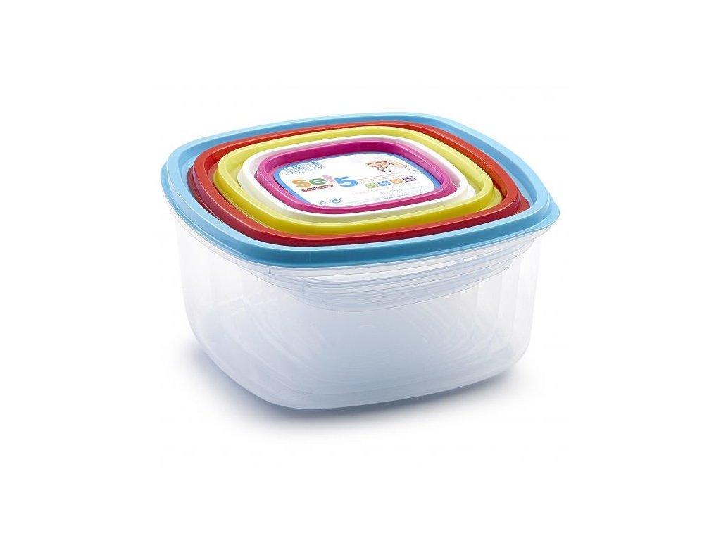 Sada dóz 5 ks Mix barev 2 | www.doleo.cz