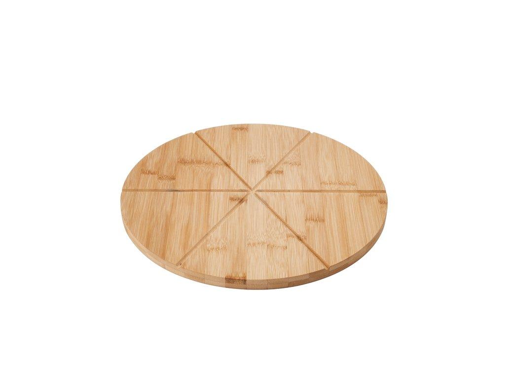 Prkénko na krájení pizzy bambusové 33 cm