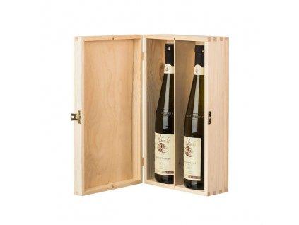 13838 drevena krabicka na 2 vina Doleo.cz