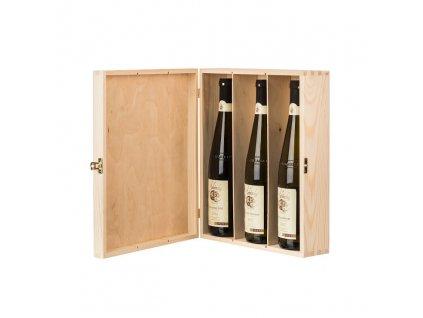 13844 drevena krabicka na 3 vina Doleo.cz