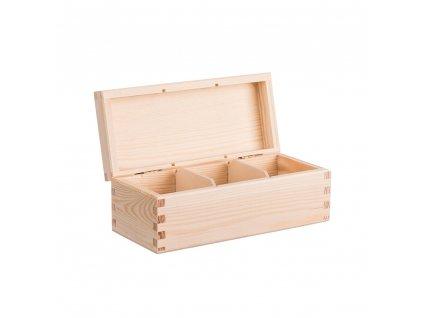 12368 drevena krabicka na caj 3 prihradky Doleo.cz
