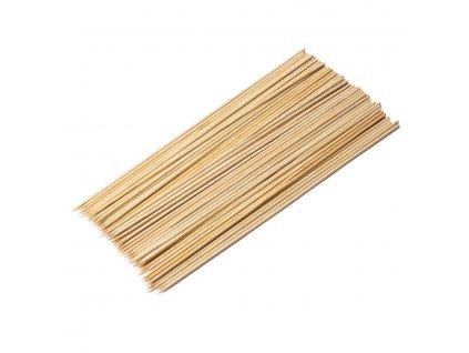 Dřevěné špejle z bambusu 30 cm hrocené - 100 ks - Doleo