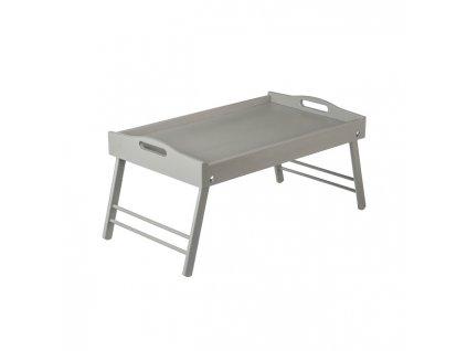 13856 3 dreveny servirovaci stolek do postele 50 x 30 cm sedy Doleo.cz