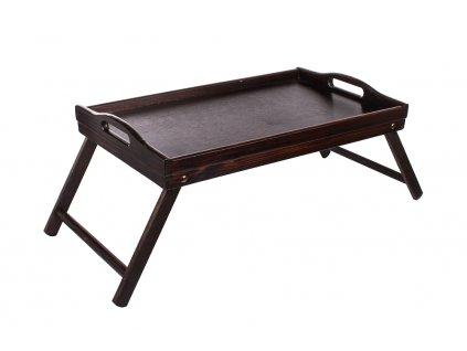 13109 2 dreveny servirovaci stolek do postele 50 x 30 cm tmavy Doleo.cz