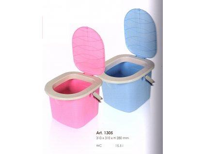 WC kbelík 15,5 l růžový Doleo.cz