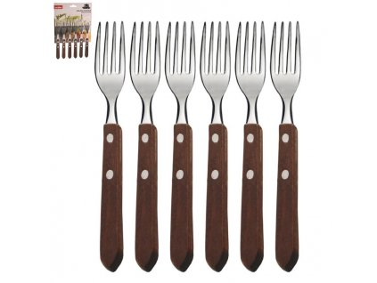 Nerezový vidličky na steak - 6 ks