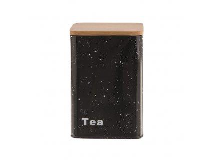 Plechová dóza s víkem tmavá - tea