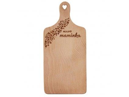 Dřevěné prkénko 30 x 14 cm - Nejlepší maminka