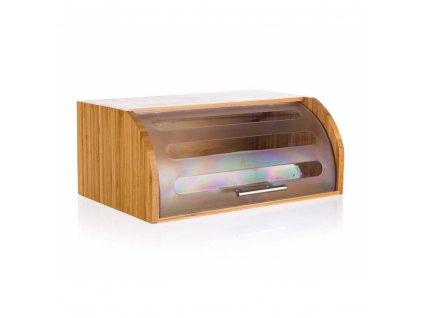 Chlebník bambusový BRILLANTE 40,5 x 27 x 17 cm s plastovým víkem