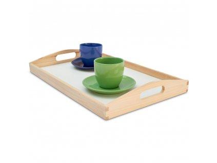 Dřevěný servírovací tác 47x30x6 cm