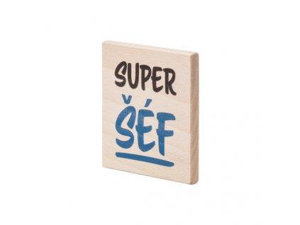 Dřevěný podtácek Super šéf