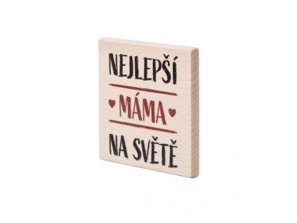Dřevěný podtácek Nejlepší máma na světě