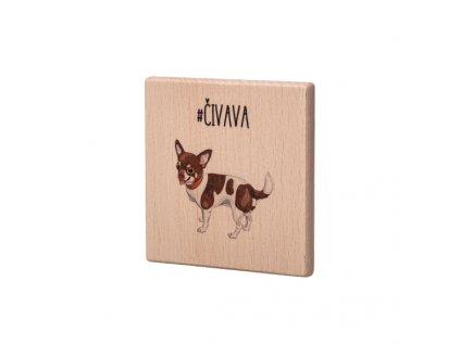 Dřevěný podtácek - Čivava