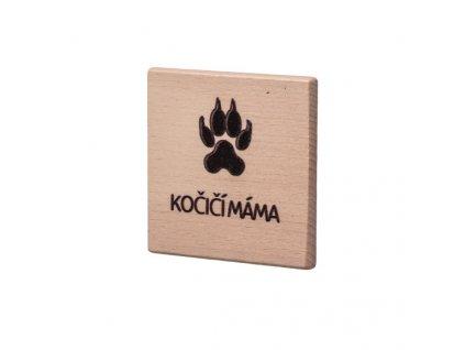 Dřevěný podtácek - Kočičí máma