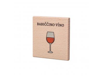 Dřevěný podtácek - Babiččino víno
