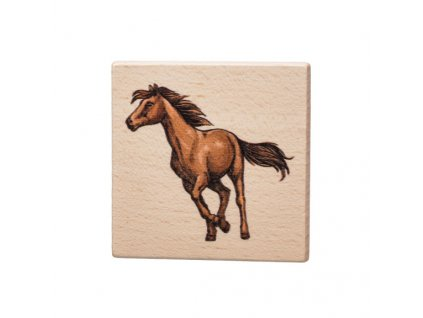 Dřevěný podtácek - Kůň