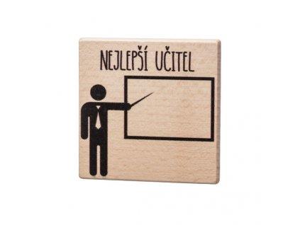 Dřevěný podtácek - Nejlepší učitel