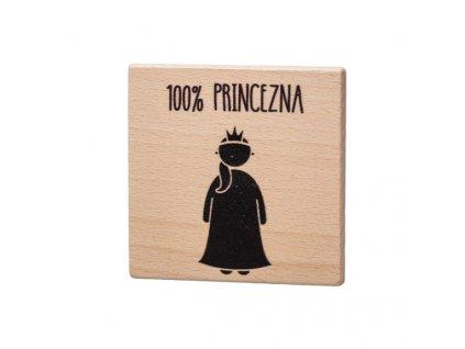 Dřevěný podtácek - 100% Princezna