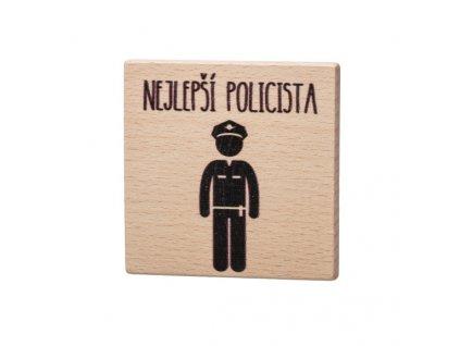 Dřevěný podtácek - Nejlepší policista