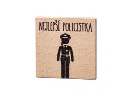 Dřevěný podtácek - Nejlepší policistka