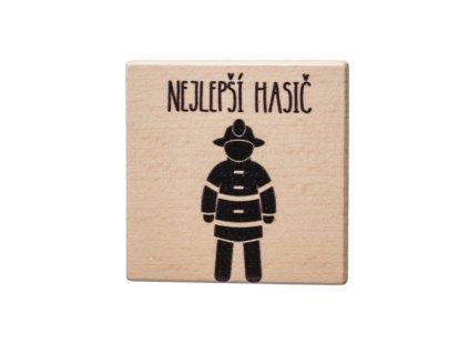Dřevěný podtácek - Nejlepší hasič