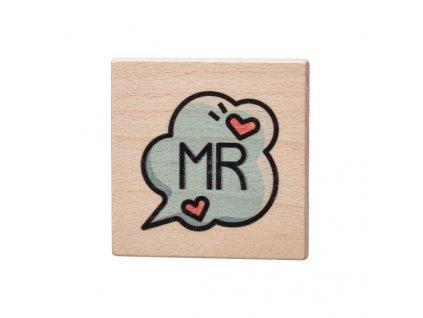 Dřevěný podtácek - MR
