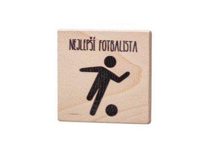 Dřevěný podtácek - Nejlepší fotbalista