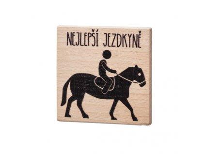 Dřevěný podtácek - Nejlepší jezdkyně