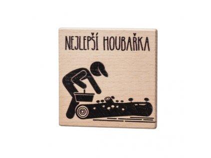 Dřevěný podtácek - Nejlepší houbařka