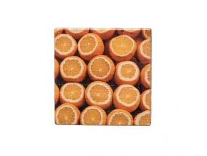 Dřevěný podtácek - Pomeranče