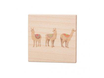 Dřevěný podtácek - Lamy