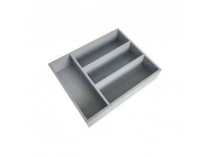 Organizér na příbory 25x31x7 cm - šedý