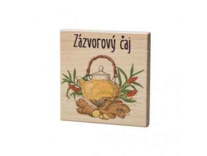 Dřevěný podtácek - Zázvorový čaj