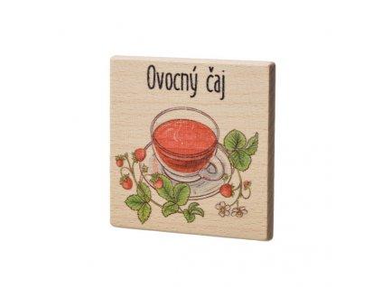 Dřevěný podtácek - Ovocný čaj