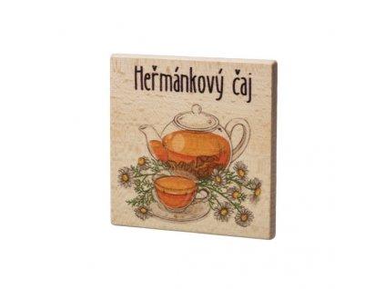 Dřevěný podtácek - Heřmánkový čaj