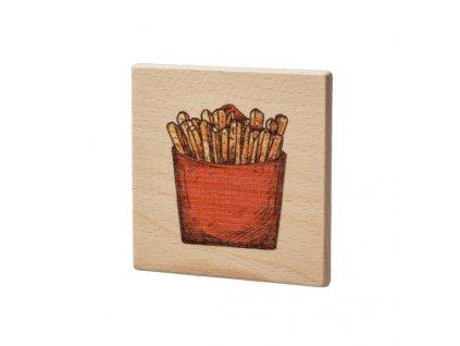 Dřevěný podtácek - Hranolky