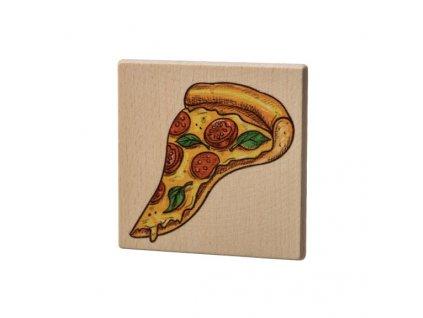Dřevěný podtácek - Pizza